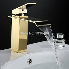 Bathroom Waterfall Faucet by Popular Golden Bathroom Faucets Buy Cheap Golden Bathroom Faucets