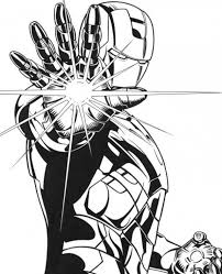 coloring page iron cool iron using his repulsor coloring page free superheroes