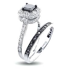 black bridal sets black diamond wedding sets rings blushingblonde