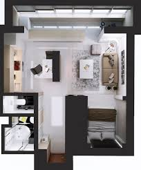 Top  Best Small Studio Ideas On Pinterest Studio Apartment - Studio apartment layout design
