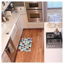 Kitchen Floor Mat Blue Triangle Revisit Kitchen Floor Mat Rug 18 X30 Target