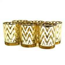 chevron votive candle holders 2 5 gold 424484 wholesale