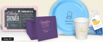 personalized baby shower party supplies the stationery studio