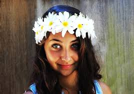 hippie flower headbands headband crown white chain hippie headband edc