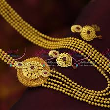 pendant necklace online images Nl5852 multi strand cz ruby stylish side pendant gold plated JPG