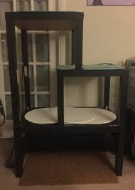 ikea hackers split level cat tree hack two lack side tables u0026 one