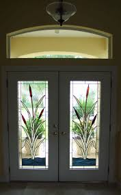 designer windows custom stained glass window for front doors cattail design by