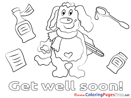 kids get well soon get well coloring pages awesome dog kids get well soon coloring