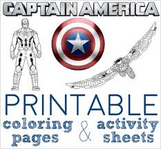 free printable captain america coloring pages activity sheets