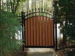 modern fence fence gate