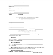 10 divorce agreement templates u2013 free sample example format