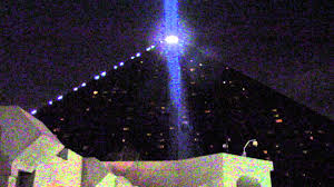 brightest light beam in the world at the luxor hotel las vegas