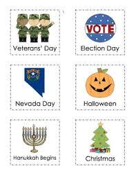 calendar cards special days by emily hopson teachers pay teachers