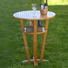 High Table Patio Furniture Teak Outdoor Bar Table