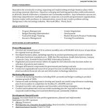 program manager sample resume project manager resume sample