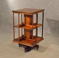 Antique Revolving Bookcase Antique Oak Revolving Bookcase Library Stand Quality English