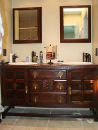 Vanity Restaurant Bathroom Vanity Made From Vintage Buffet Sideboard All You Need