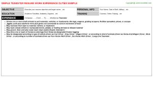 sample resume for bakery job teamster resume sample