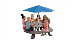 little tikes fold u0027n store picnic table blue cubby u0026 play