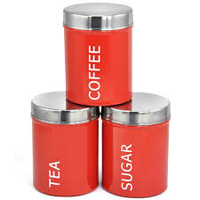 Kitchen Canister Sets Stainless Steel Aliexpress Com Buy 3pcs Set Red Stainless Steel Food Seal Can