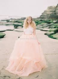 peach color a line wedding dress 2015 novia spaghetti strap