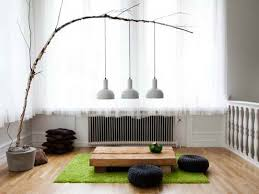 interior design scandinavian living room with japanese style