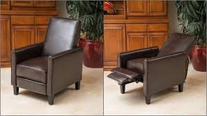Wingback Recliners Chairs Living Room Furniture Brown Leather Wingback Chair Lustwithalaugh Design Comfortable