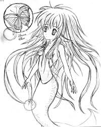 12 images of manga mermaid coloring pages anime mermaid coloring