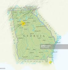 Maps Of Georgia Map Of Georgia Closeup Stock Illustration Getty Images