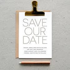 Digital Save The Date Printable Wedding Save The Date Pdf U0027modern Minimal U0027 Simple