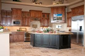 Ceramic Tile Backsplash by White Spray Paint Wood Kitchen Island Beautiful Kitchen Cabinet
