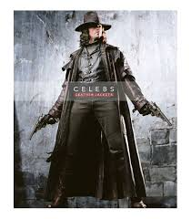 Van Helsing Halloween Costume Van Helsing Hugh Jackman Long Leather Coat Costume