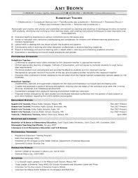 Sample Of A Job Resume by Elementary Teacher Resume Berathen Com