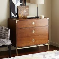 West Elm Bedroom Furniture by Malone Campaign 3 Drawer Dresser Walnut West Elm