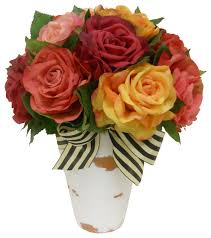 summer in arrangement traditional artificial flowers