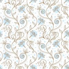 floral ornament vector illustration of summer background stock