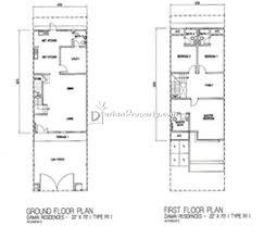 terraced house floor plans terrace house for sale at kemuning utama kemuning for rm 780 000