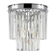 Odeon Crystal Chandelier Harrison Lane Odeon 3 Light Empress Crystal Glass Fringe 2 Tier