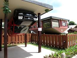 fun in sabah tamparuli upside down house and car