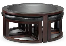 Space Saver Kitchen Table Emma Occasional Tables Cocktail Table W 4 Ottomans Leon U0027s I