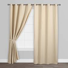 Sunbrella Curtains With Grommets by Natural Parker Grommet Top Curtains Set Of 2 World Market