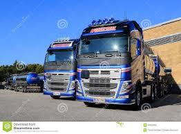 volvo 500 truck fleet of volvo fh 500 tank trucks on a yard editorial image