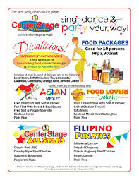 party packages u2014 centerstage family ktv u0026 restobar