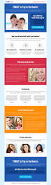 teeth whitening product selling responsive landing page design