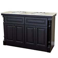 bellaterra home 605522a 55 inch double sink vanity dark mahogany