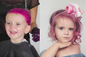 toddler hair this dyed toddler s hair hot pink and we re so here for it