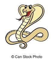 clip art vecteur de couleur cobra vecteur serpent dessin