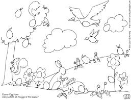 kindergarten holidays seasons worksheets color an easter egg hunt