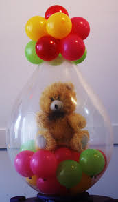 teddy in a balloon gift gift delivery
