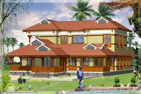 2 different 3d home elevations kerala home design and 4 different
